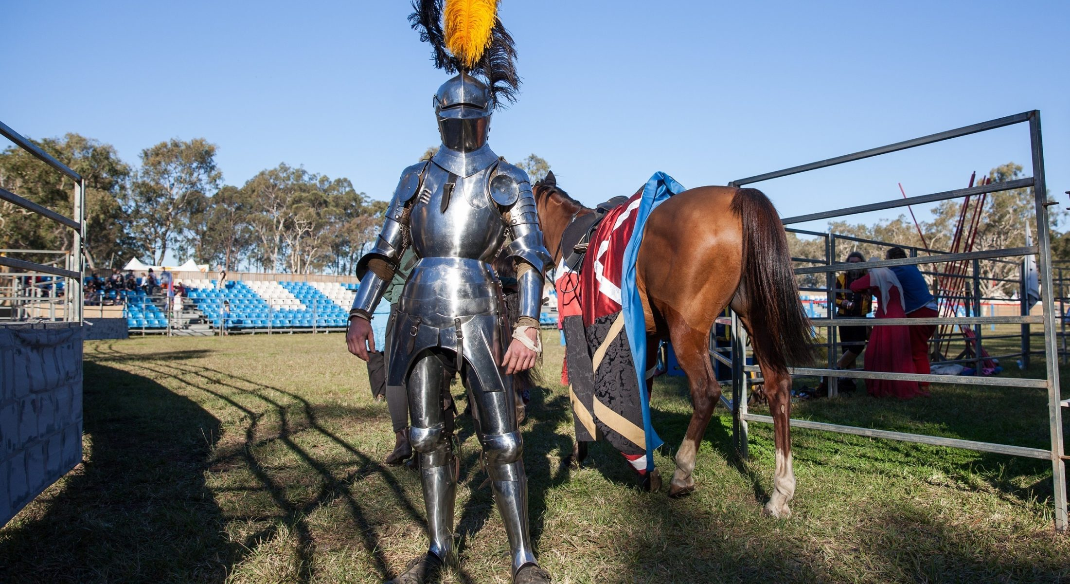 Abbey Medieval Festival 2016 Jousting Knights Caboolture Moreton Bay Region