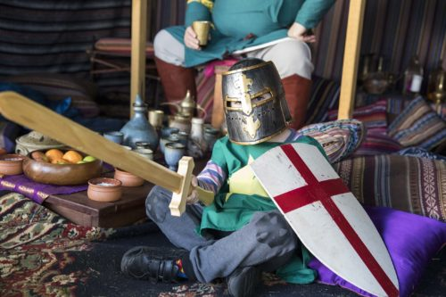 Abbey Medieval Festival Kids Knight Encampments dressup encampments Moreton Bay Region