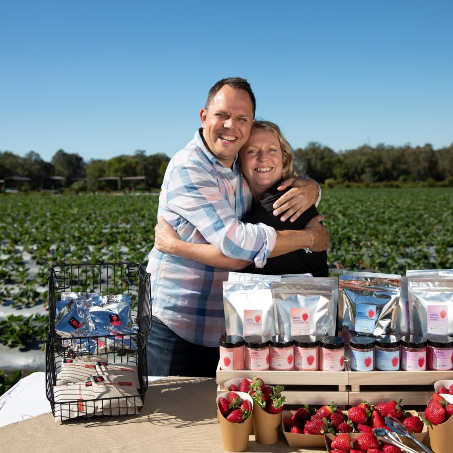 Alastair Mc Leod loves local Luva Berry Farm Great Day Out Tastes Moreton Bay Region