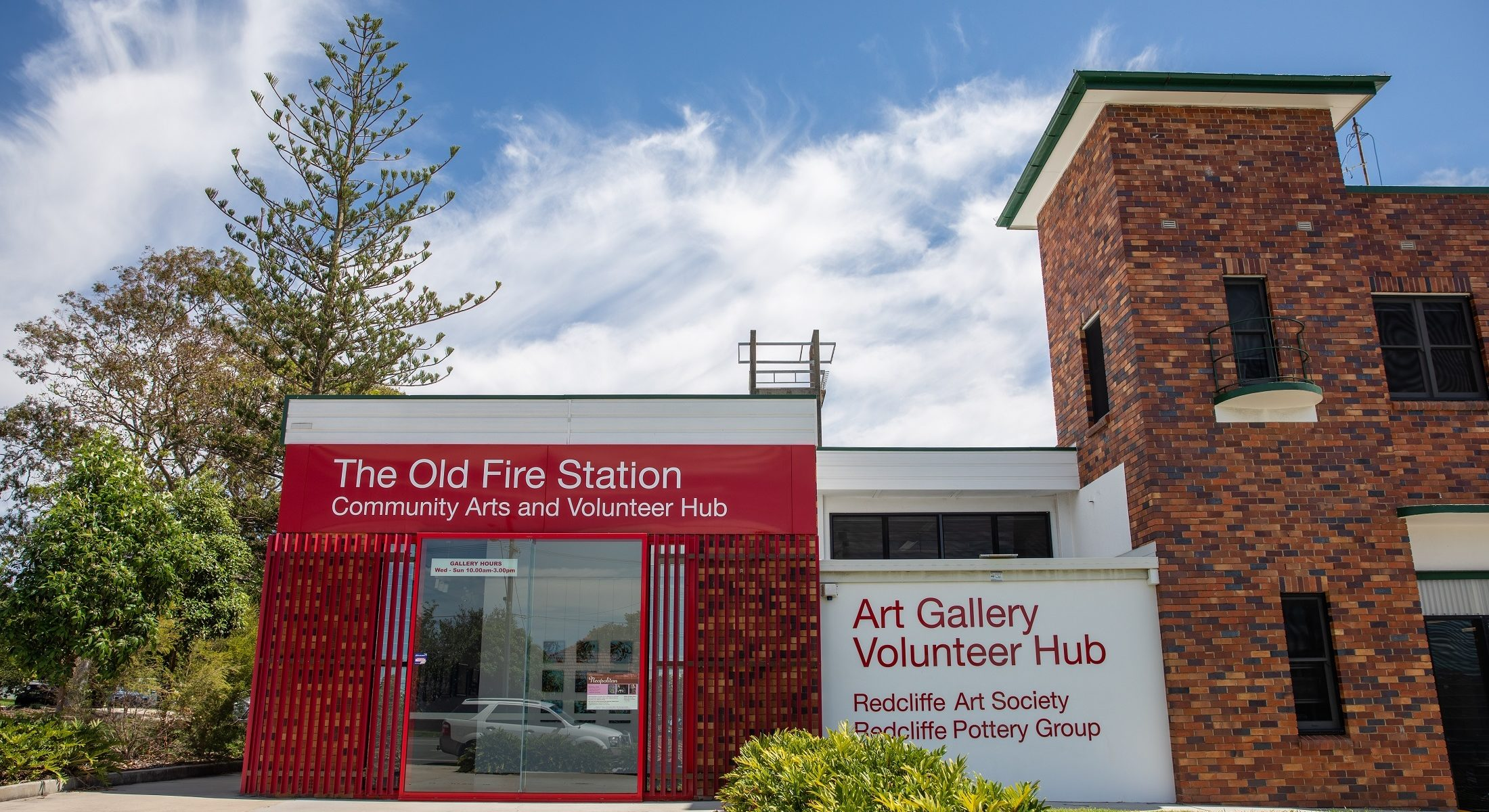 Old Fire Station Redcliffe Art Gallery Volunteer Hub Moreton Bay Region