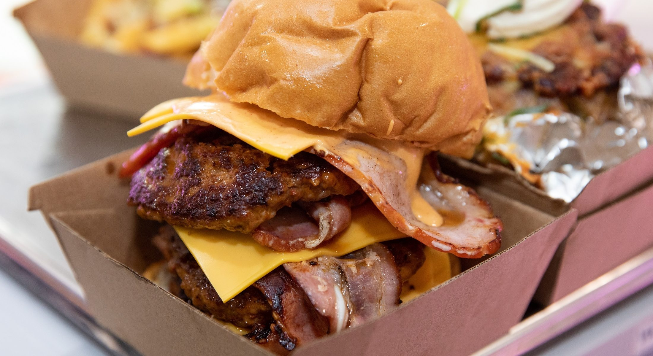 Squealing Pig Burpengary stacked burger Moreton Bay Region