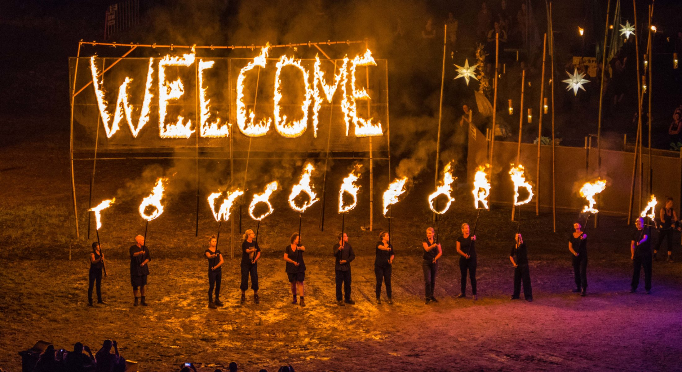 Woodford Folk Festival Fire Welcome In The Moreton Bay Region