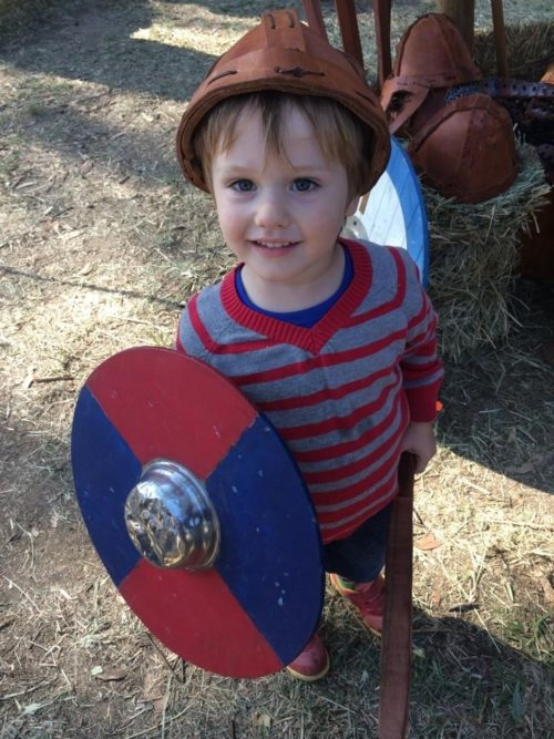 Abbey Medieval Festival Kid Knight dress ups Renee Gusa Moreton Bay Region