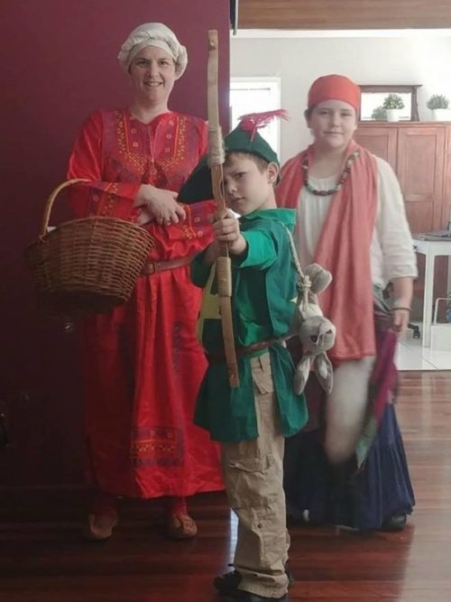 Abbey Medieval Festival family dress ups Renee Gusa Moreton Bay Region