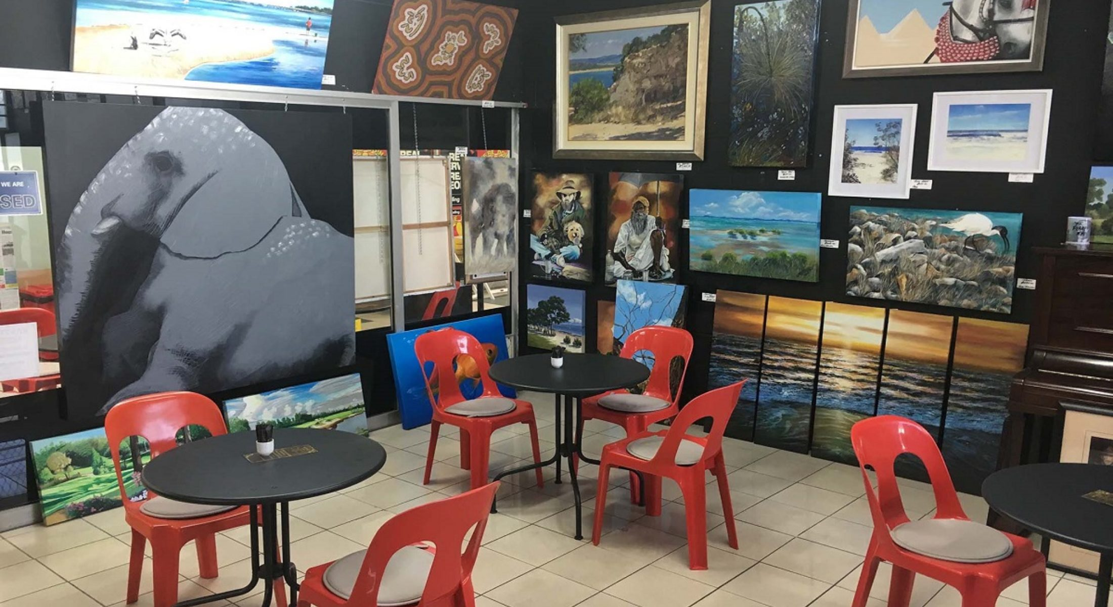 Art Shop Cafe Bribie Island Near Brisbane Buy Artsy Craft Paint Draw Coffee Food Moreton Bay Region
