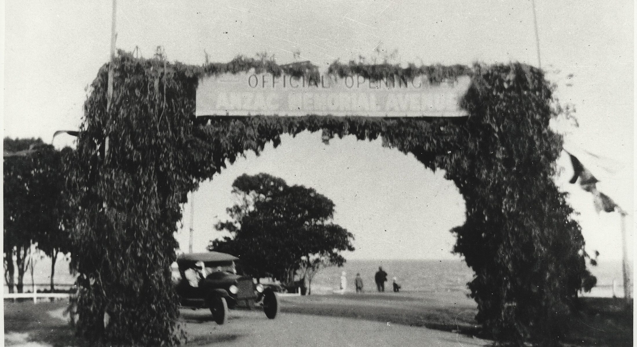 Arch Built For The Official Opening Of Anzac Avenue 7 July 1926