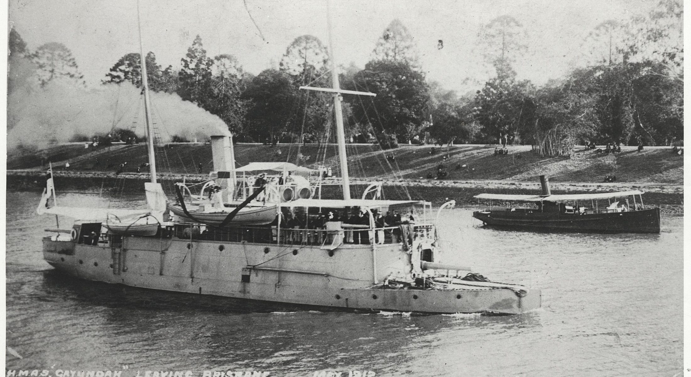 Gayundah Steaming Down The Brisbane River 1912