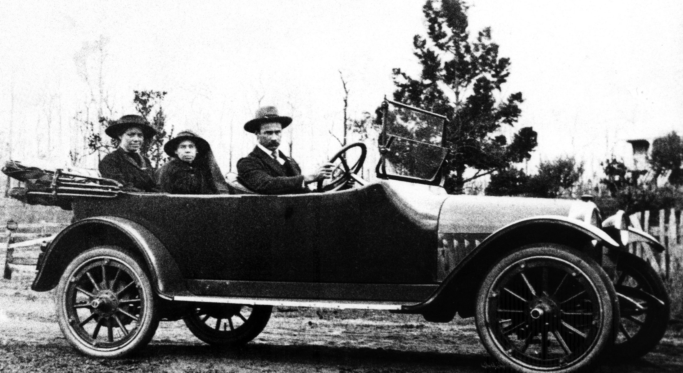 Early Motor Car Travelling Near Strathpine 1910