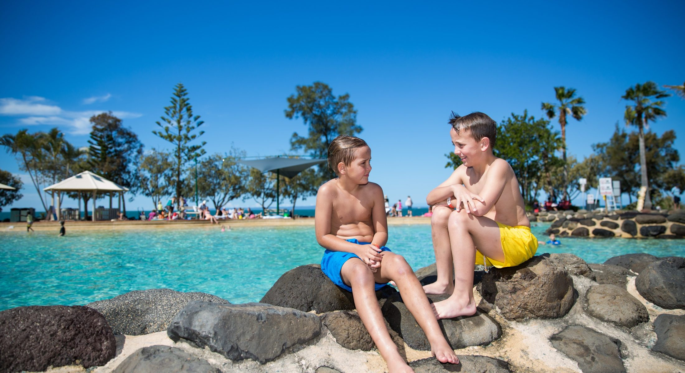 Settlement Cove Redcliffe Lagoon Swimming With The Kids Summertime Near Brisbane Moreton Bay Region