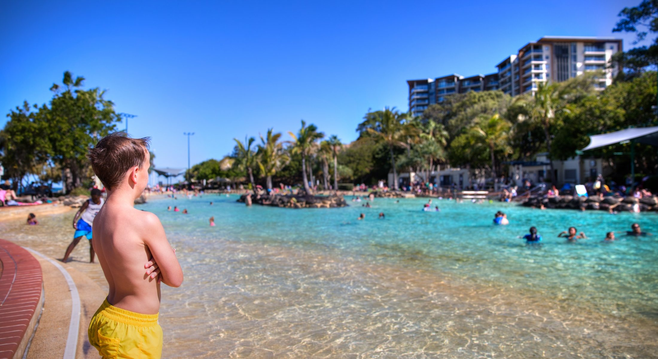 Settlement Cove Redcliffe Lagoon Swimming With The Kids Summertime Near Brisbane Views Moreton Bay Region