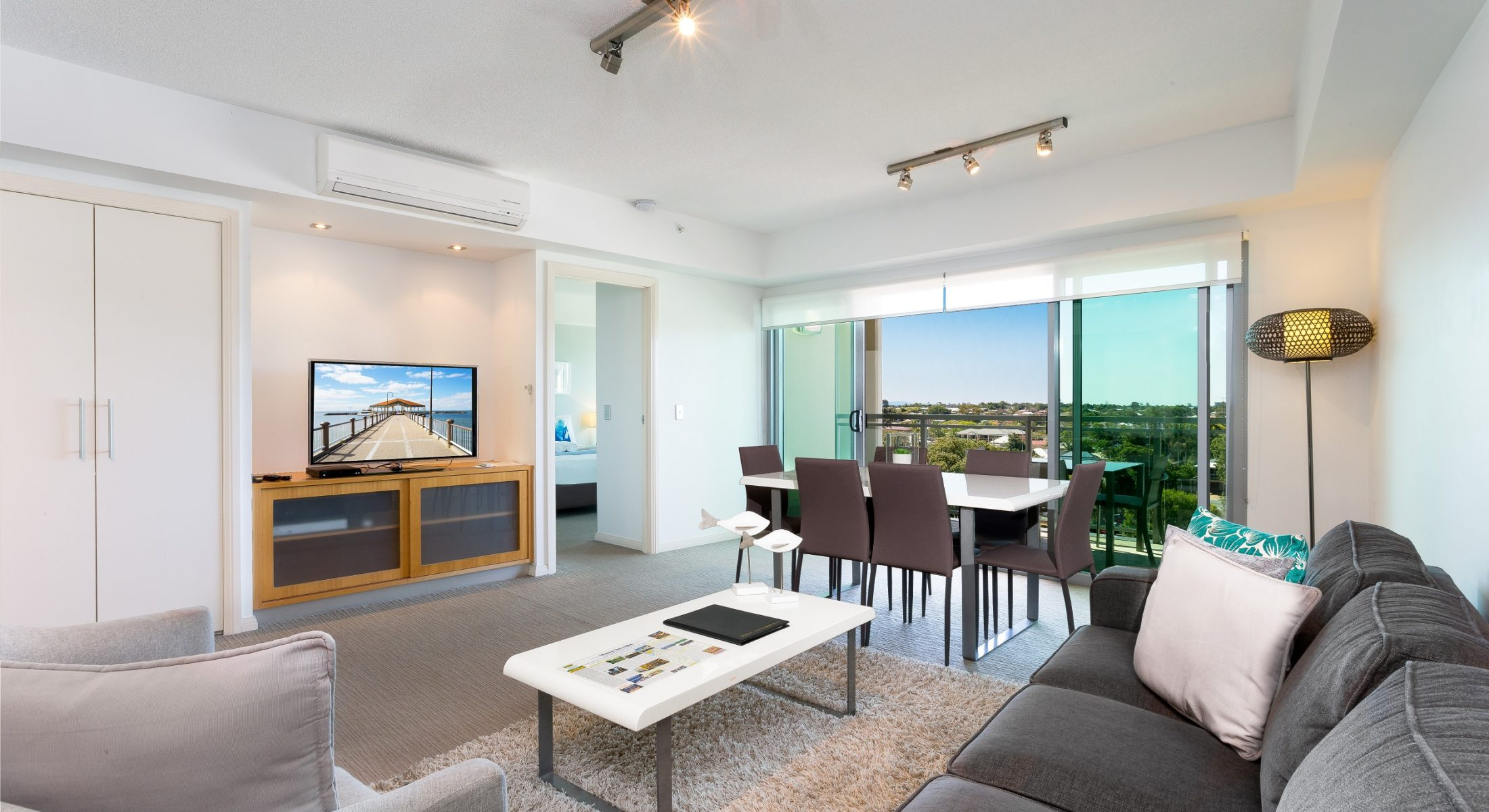 Proximity Waterfront Apartments Living Room Moreton Bay Region