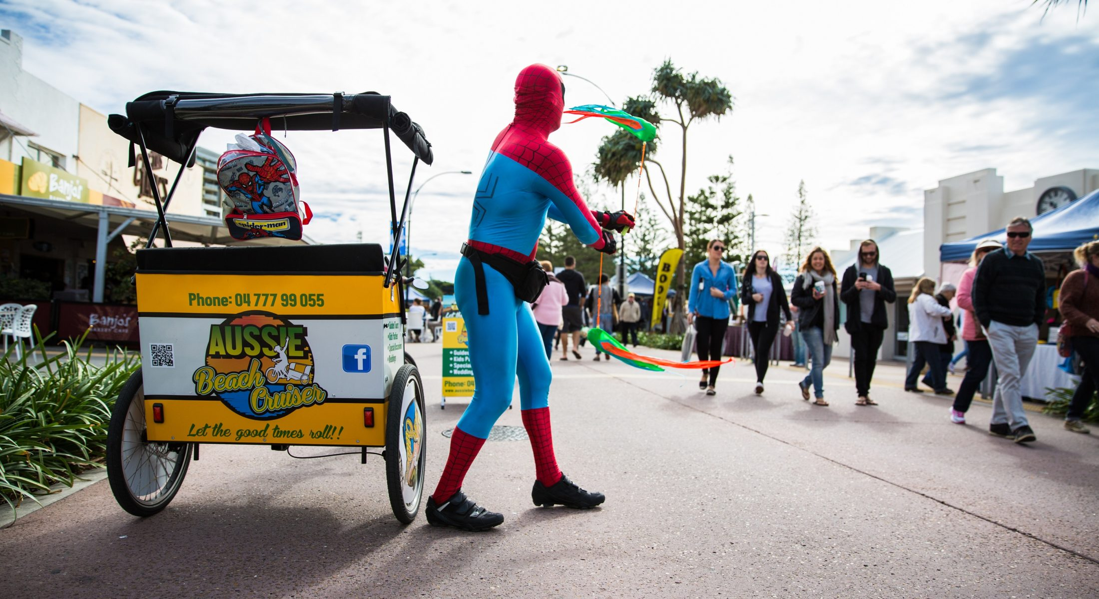Redcliffe Markets Aussie Beach Cruiser Spiderman Moreton Bay Region