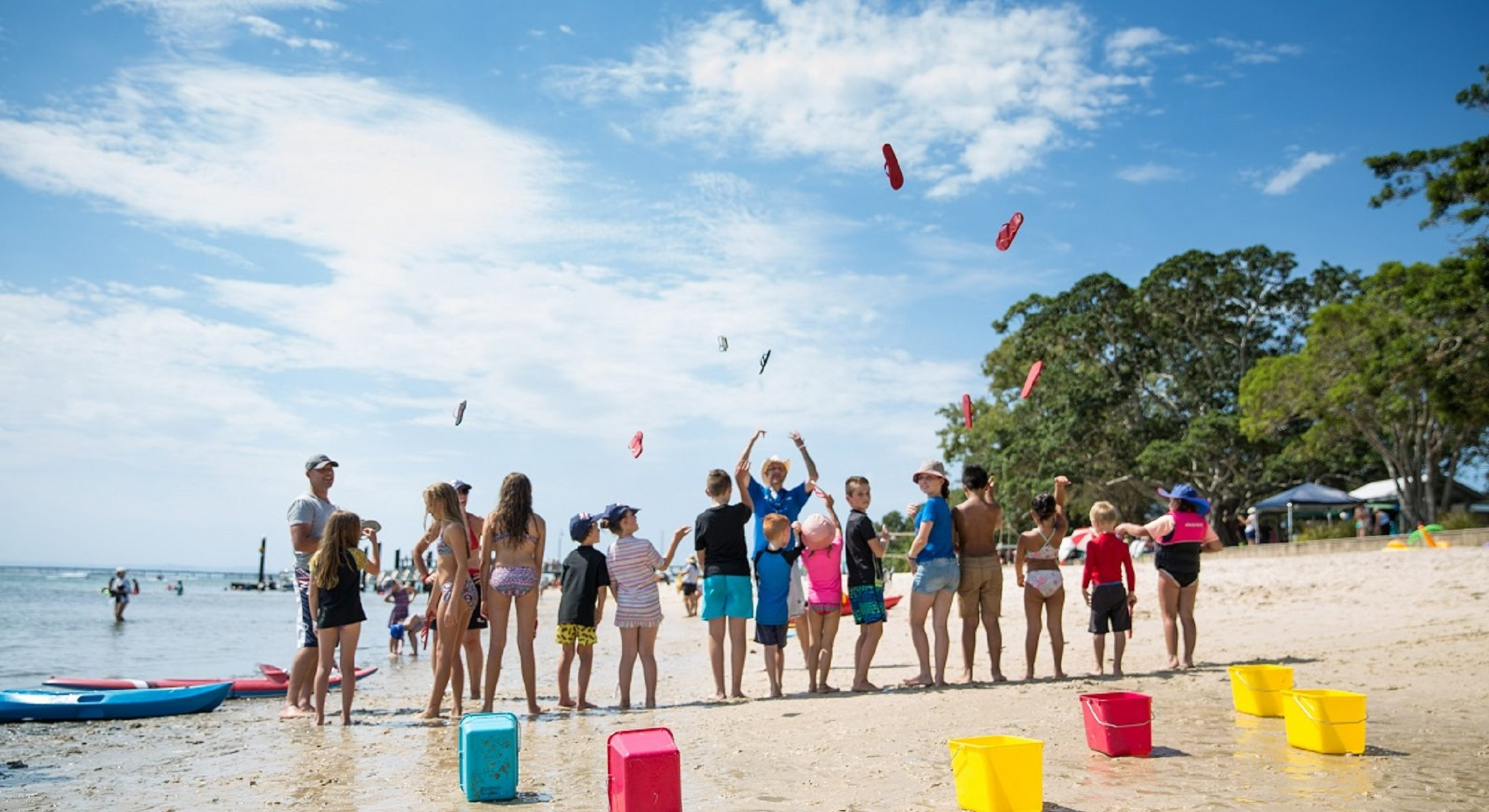 Bribie Island Australia Day Kids Thong Toss Free Event Moreton Bay Region